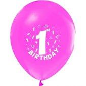 Hapy Birthday 1 Yaş Pembe 100 Adet