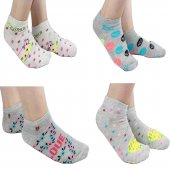 12li Paket Kadın Patik Çorap Pamuklu Bayan...