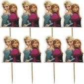 20 Adet Elsa (Karlar Ülkesi) Sunum Kürdanı Kız Parti Malzemesi