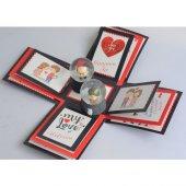 Sevgililer Günü Patlayan Kutu Aşk Kutusu + 2 Adet Dede Nine Kar K