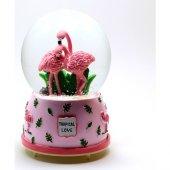 Modaroma Tropical Love Flamingolar Müzikli Kar Küresi