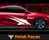 Sport Araba Yan Sticker-2