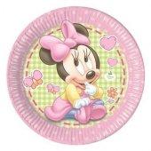 8 Li Bebek Minnie Mouse Tabak Minili Tabak Pembe Mini Maus Tabak