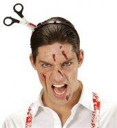 Halloween Kafaya Saplanan Makas Cadılar Bayramı Şaka Makası