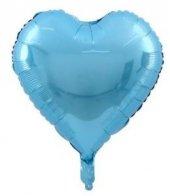 55 60 Cm Büyük Mavi Kalp Folyo Balon Mavi Kalp Folyo Balon