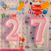 Yirmi Yedi 27 Yaş Kız Pasta Mumu Pembe Renk