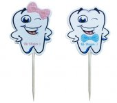 Doğum Günü Kürdanı Erkek Mavi Diş Kürdanı Kız Pembe Diş Kürdanı