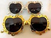 14 Şubat Sevgililer Günü Gold Gümüş Seçenekli Kalpli Gözlük