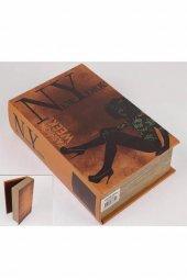 New York Kitap Şek Deri Kutu 27x18cm