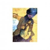 Mary Cassatt With Her Dog Kanvas Tablo 50x70 Cm