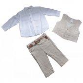Losan Erkek Bebek&çocuk Keten Pantolon Gömlek Yelek Takım
