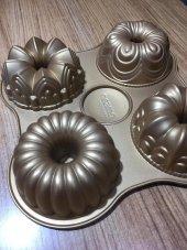 Emsan One Four Döküm Granit 4lü Kek Kalıbı Gold...