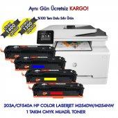 203a Cf540a Hp Color Laserjet M254dw M254nw Muadil Toner Seti