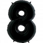 8 Rakam Grabo Folyo Balon Siyah 100 Cm