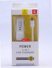 Lopard Gold Micro Car Kablo + 2a Şarj Cihazı Set Şarj Araç Şarj Z