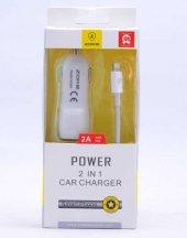 Lopard Apple İphone Lightning Car Kablo + Şarj Cihazı Set Şarj Ar