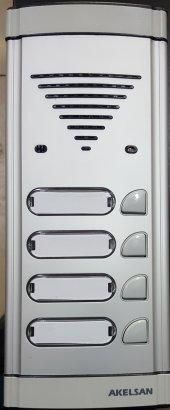 Akelsan 4 Lü Zil Butonu Hoparlörlü Konuşmalı Diafon Panel