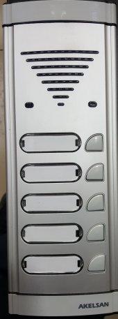 Akelsan 5 Li Zil Butonu Hoparlörlü Konuşmalı Diafon Panel