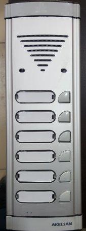 Akelsan 6 Lı Zil Butonu Hoparlörlü Konuşmalı Diafon Panel