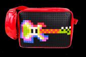 Pixelbags Parlak Omuz Çantası Siyah