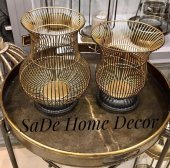 SadeHomeDecor luck art gold siyah mumluk 30cm / 25 (2 li set)