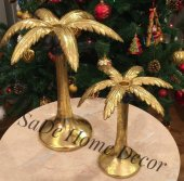 SadeHomeDecor lucky art gold hindistan cevizi 37cm & 27 cm (2 li set)