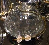 SadeHomeDecor luckyart galalı cam fanuslu kek tabağı 31 cm-2