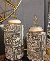 SadeHomeDecor luckyart modern dekoratif 2 li set küp (39cm/33 cm)