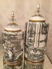 SadeHomeDecor luckyart modern dekoratif 2 li set küp (39cm/33 cm)-2