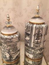 SadeHomeDecor luckyart modern dekoratif 2 li set küp (39cm/33 cm)-3