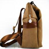 Silver Polo Taba Renk Kadın Sırt Çantası #1016-3