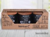 Keramika Ege 3 Parça Saklama Kabı 12cm-3