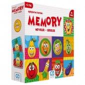Hafıza Oyunu Eşleştirme Kartları 48 Parça Meyveler...