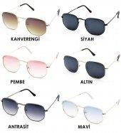 Extoll Beşgen Kadın Güneş Gözlüğü Beşgen Altıgen Gözlük ex612-2
