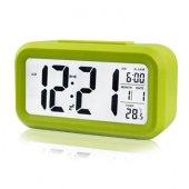 Akıllı Dijital Masa Saati / Karanlık Sensörlü / Fotoselli / Alarm / Termometre / Takvim / Saat -3