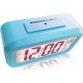 Akıllı Dijital Masa Saati / Karanlık Sensörlü / Fotoselli / Alarm / Termometre / Takvim / Saat -5