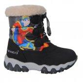 Twingo 9016 Siyah Termal Kürklü Kışlık Erkek Çocuk Bot Ayakkabı