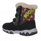 Twingo 9016 Siyah Termal Kürklü Kışlık Erkek Çocuk Bot Ayakkabı-2