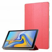 Samsung Tab S4 T830 T835 10,5 Kılıf Kapaklı Smart Cover Kırmızı