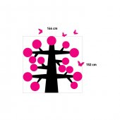 Apple Tree Kadife Duvar Sticker 152X164 Cm-3