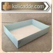 Büyük Mavi Asetat Kutu 26x40x7,5 Cm