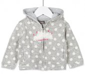 Losan Kız Bebek Kapüşonlu Penye Ceket