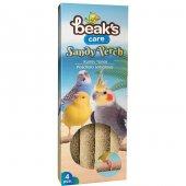 BeakS Kumlu Kuş Tünek - 4 Lü