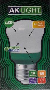 Aklıght Led Gece Ampulü 1w E27 Duy Candy Serisi Yeşil