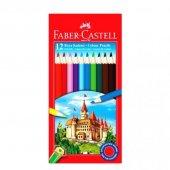 Faber Castell Karton Kutu Boya Kalemi 12 Renk Tam Boy
