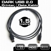 DARK 1.5m USB2.0 Yazıcı Kablosu DK-CB-USB2PRNL150