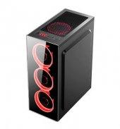 DARK 500W Powerlı Pencereli Kırmızı LED ATX Siyah Kasa DKCHSPTR500-2
