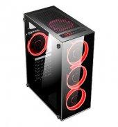 DARK 500W Powerlı Pencereli Kırmızı LED ATX Siyah Kasa DKCHSPTR500-3