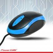 POWERGATE Kablolu USB Mavi,Siyah Mouse KB-E190-M-2
