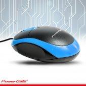 POWERGATE Kablolu USB Mavi,Siyah Mouse KB-E190-M-3